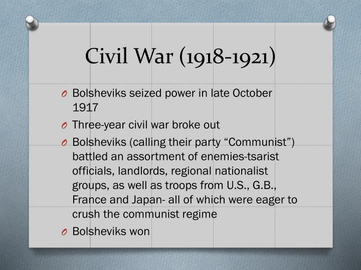 Civil War (1918-1921)