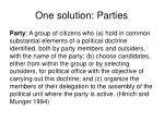 one solution parties2