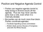 positive and negative agenda control