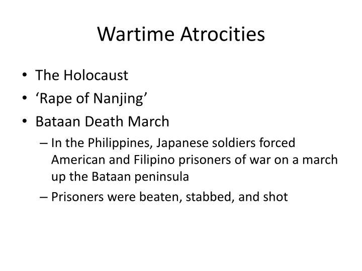 Wartime Atrocities