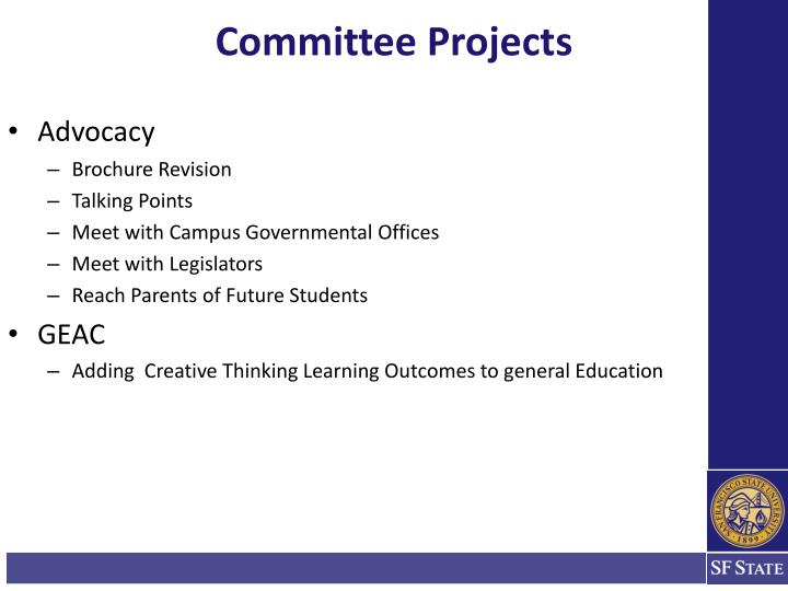 Committee Projects