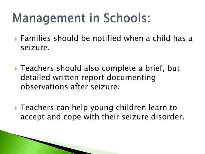 Management in Schools:
