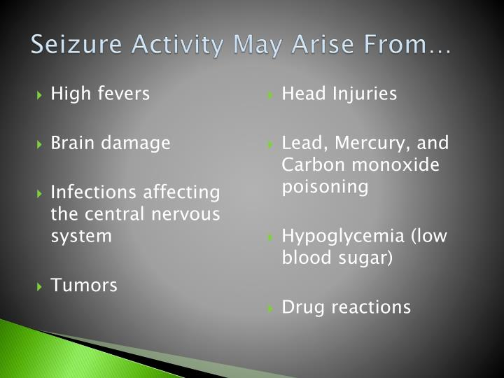 Seizure Activity May Arise From…