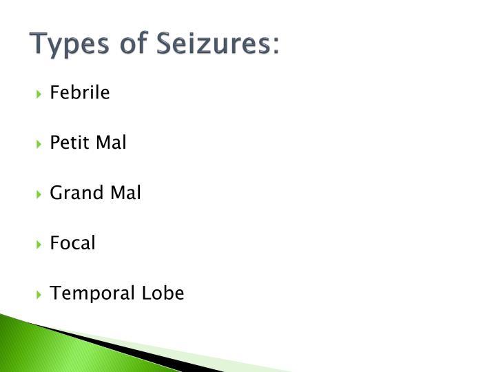 Types of Seizures: