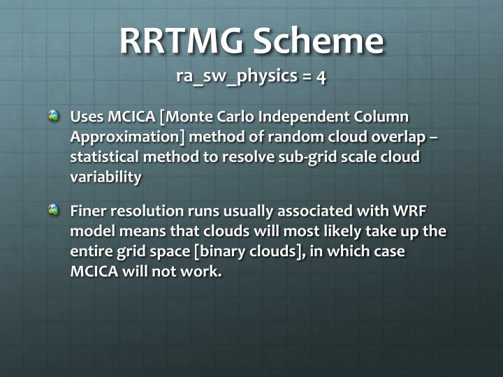 RRTMG Scheme