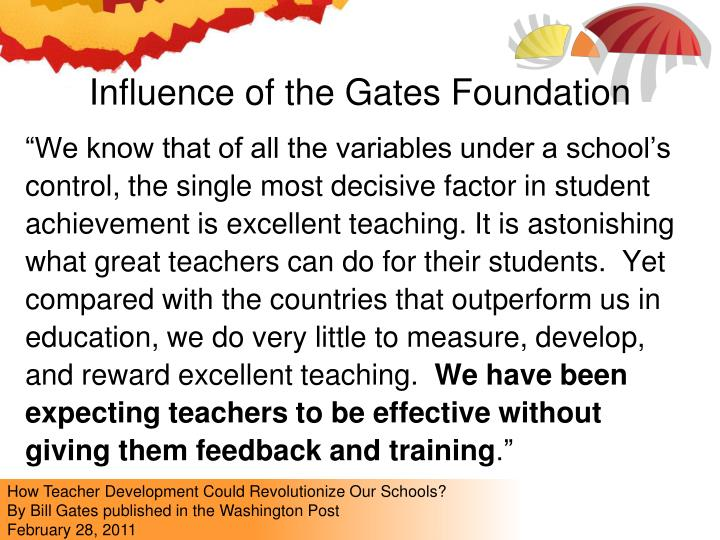 Influence of the Gates Foundation