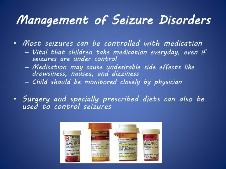 Management of Seizure Disorders