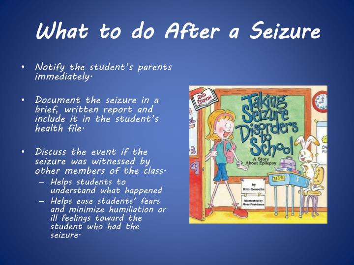 What to do After a Seizure