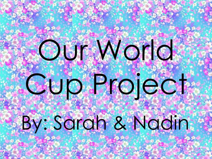 Our world cup project