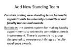 add new standing team