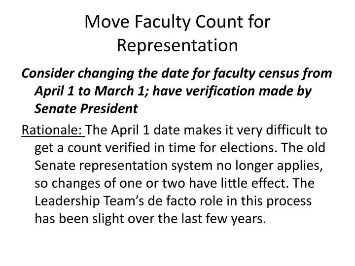 Move faculty count for representation