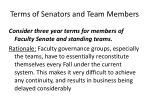 terms of senators and team members