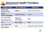 behavioral health providers