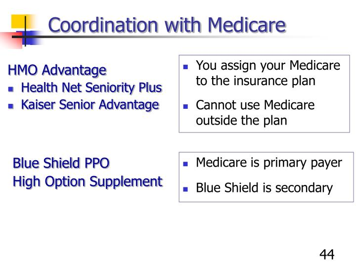 You assign your Medicare to the insurance plan