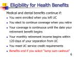 eligibility for health benefits