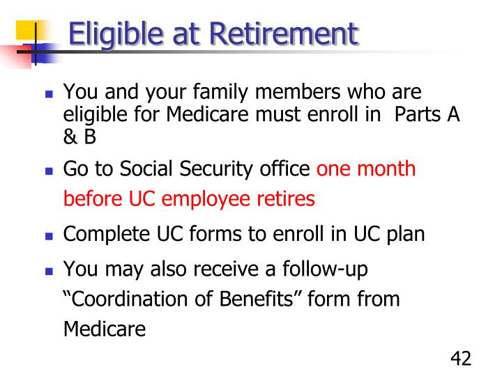 Eligible at Retirement