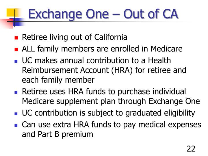 Exchange One – Out of CA
