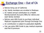 exchange one out of ca