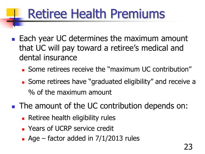 Retiree Health Premiums