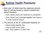 retiree health premiums