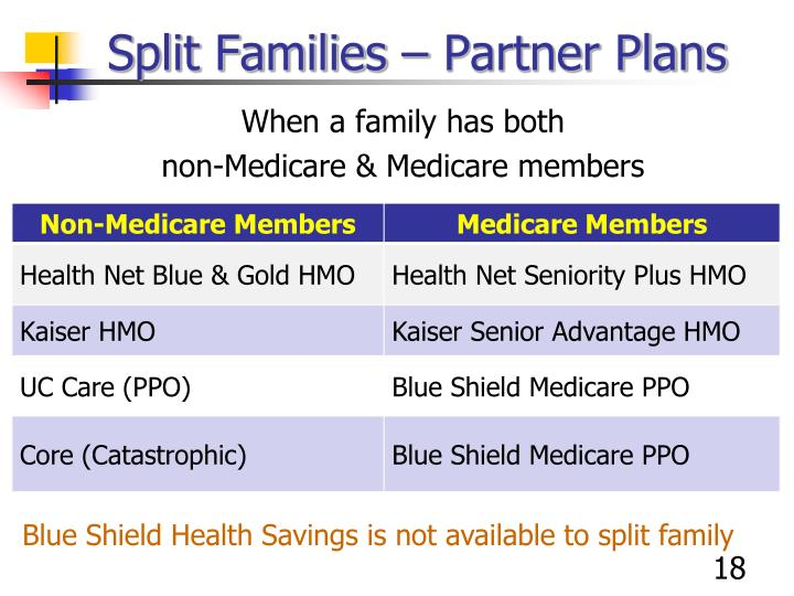 Split Families – Partner Plans