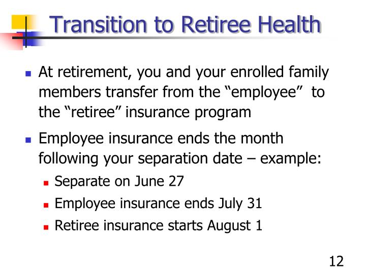 Transition to Retiree Health