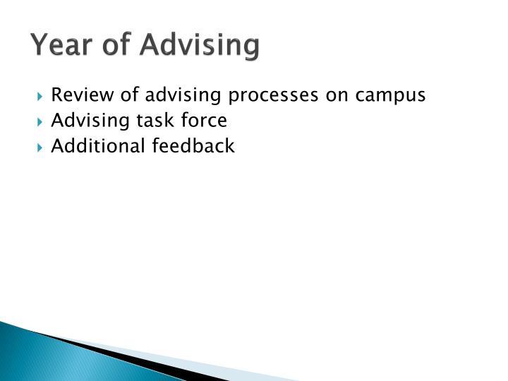 Year of Advising