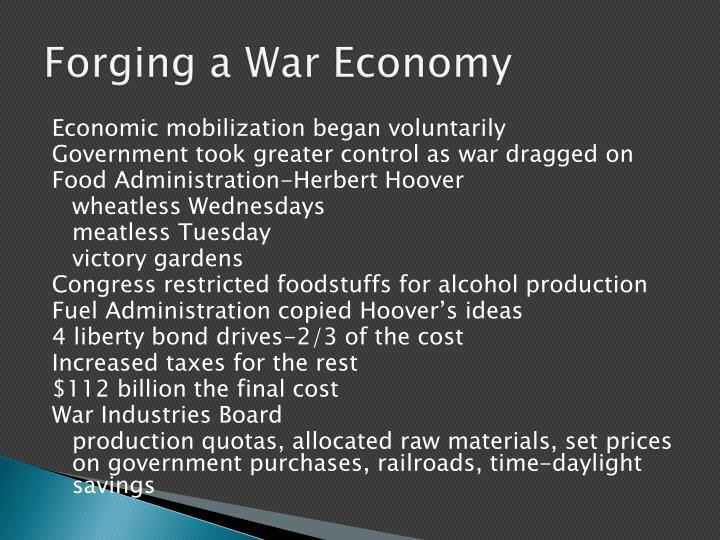 Forging a War Economy