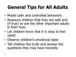 general tips for all adults