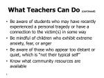 what teachers can do continued