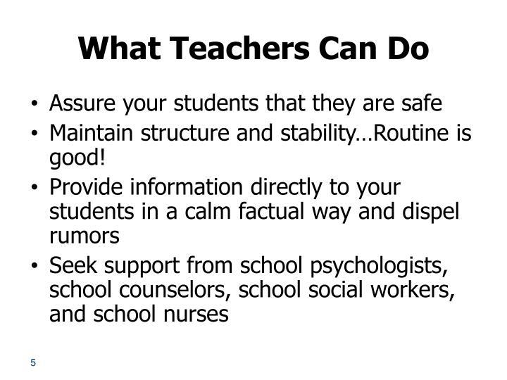 What Teachers Can Do