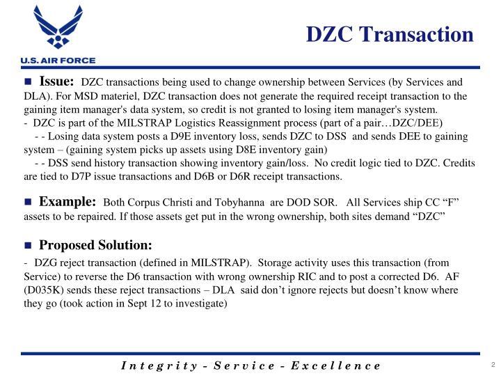 DZC Transaction