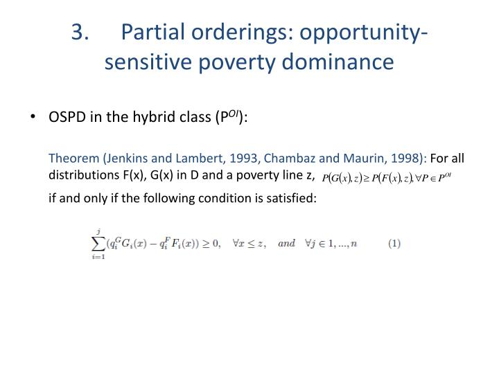 3.Partial orderings: opportunity-sensitive poverty dominance
