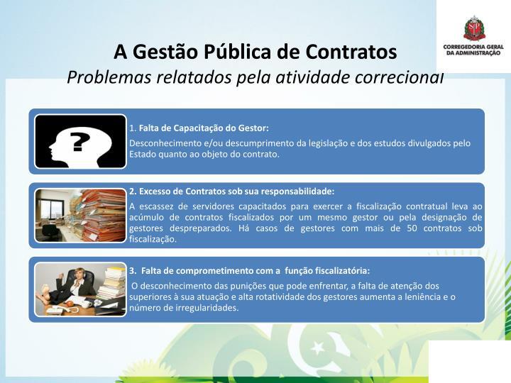 A Gestão Pública de Contratos
