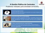 a gest o p blica de contratos problemas relatados pela atividade correcional
