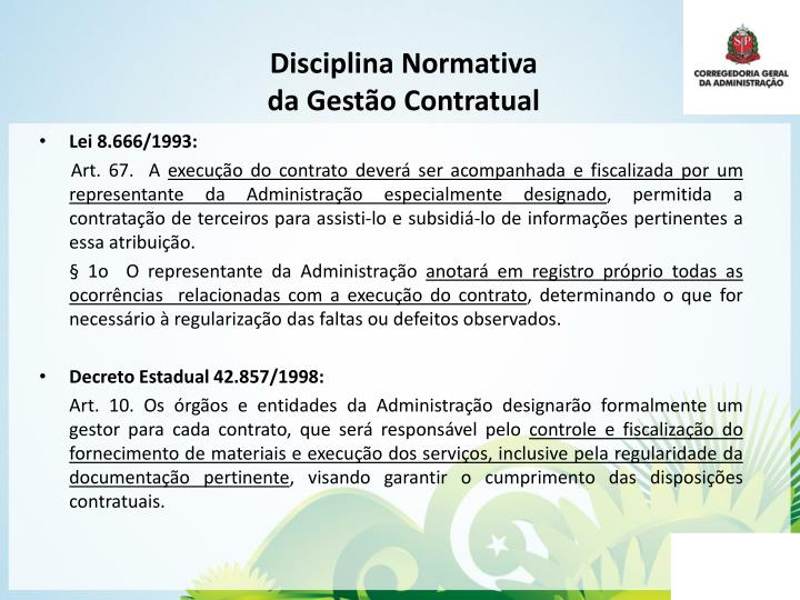 Disciplina Normativa