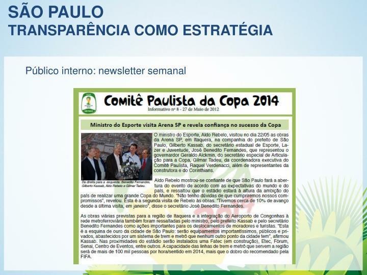 Público interno: newsletter semanal