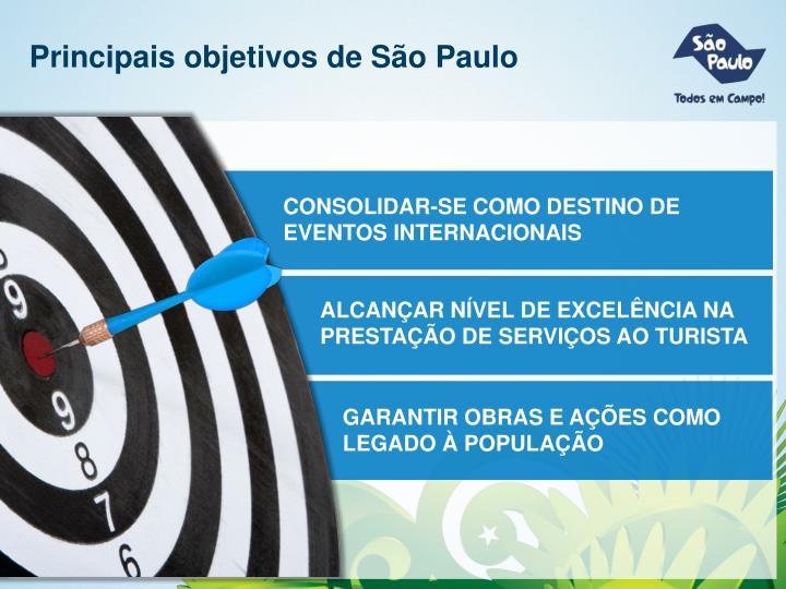 Principais objetivos de São Paulo