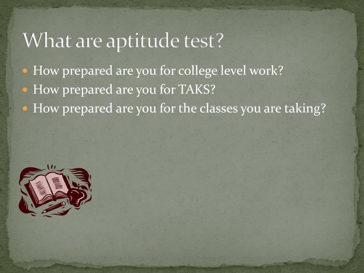 What are aptitude test?
