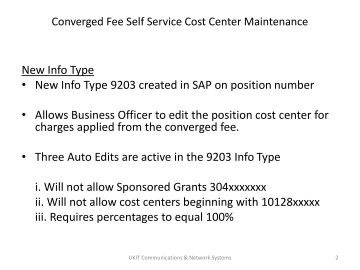 Converged fee self service cost center maintenance1