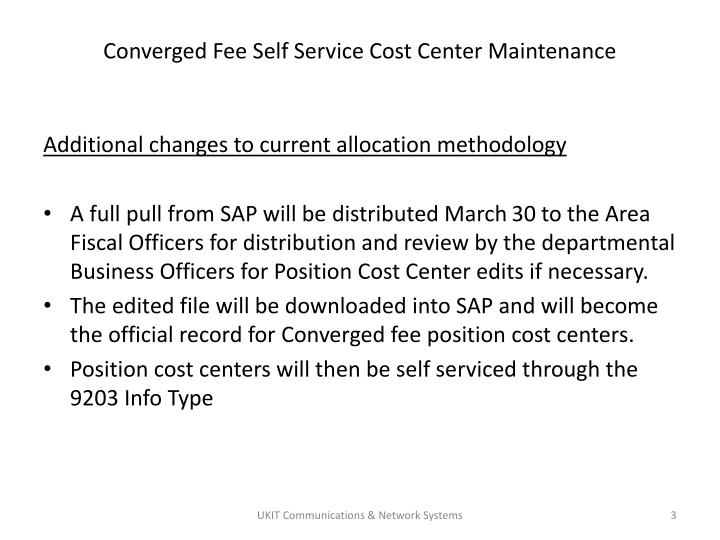 Converged fee self service cost center maintenance2