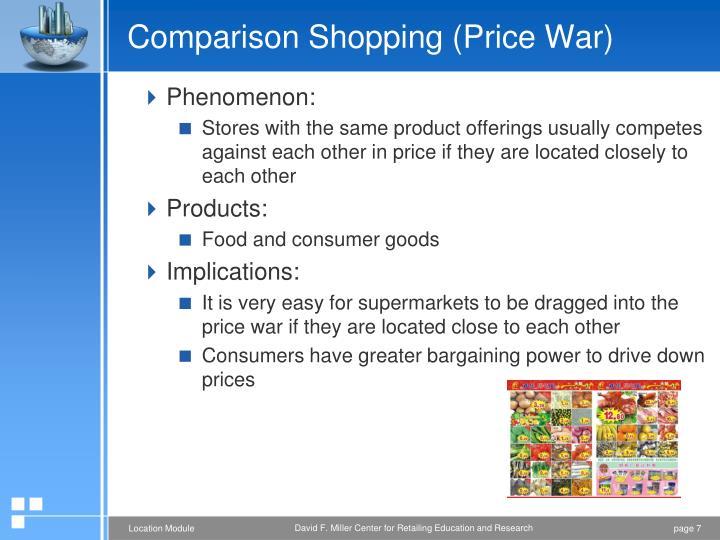 Comparison Shopping (Price War)