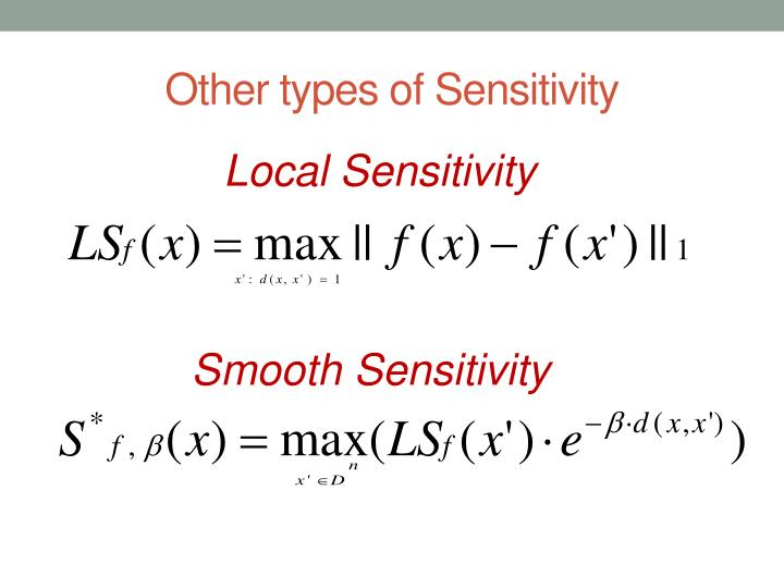 Other types of Sensitivity