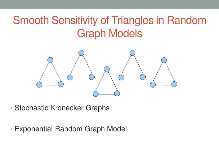 Smooth Sensitivity of Triangles in Random Graph Models