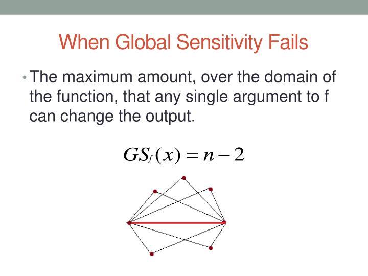 When Global Sensitivity Fails