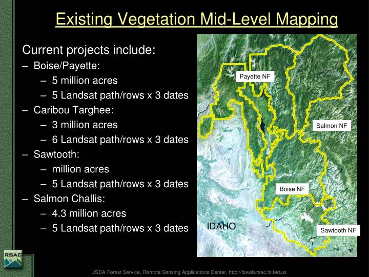 Existing Vegetation Mid-Level Mapping