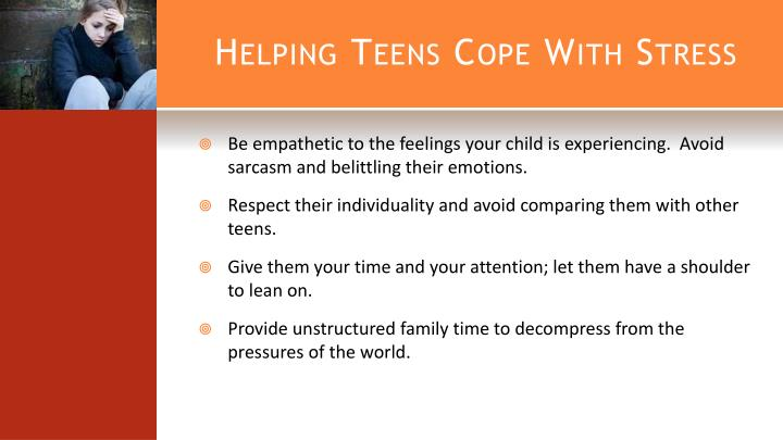 Helping Teens Cope With Stress