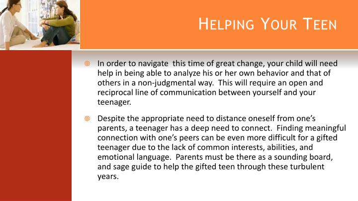Helping Your Teen