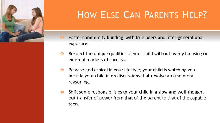 How Else Can Parents Help?