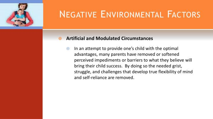 Negative Environmental Factors